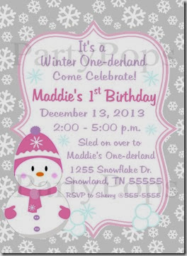 Snowgirl Invite