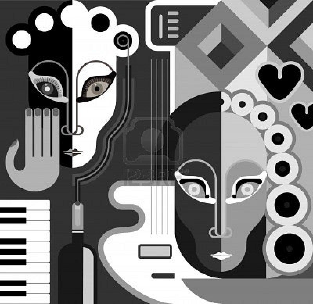 Arte abstracto blanco y negro imagui for Imagenes de cuadros abstractos en blanco y negro