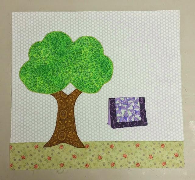 Tree Block #2 - Quilter's Garden