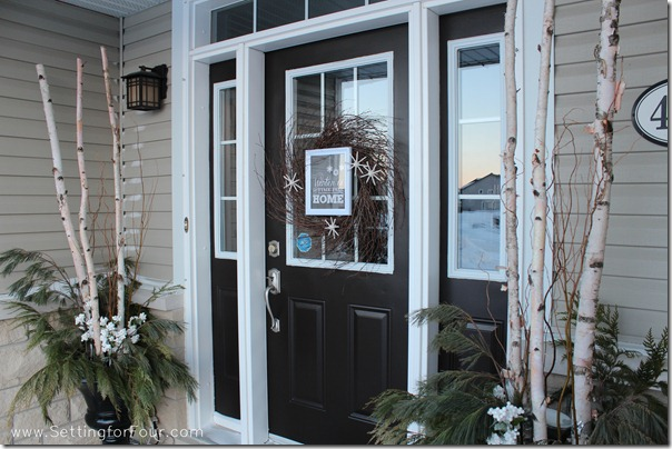 Winter Entryway from Setting for Four #entryway #decor