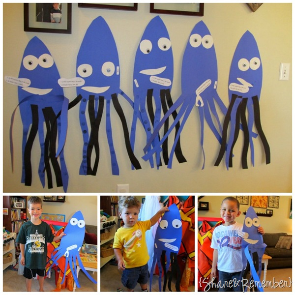 Ocean Theme Squid Craft