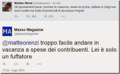 Tweet di Matteo Renzi