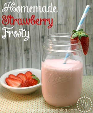 Homemade Strawberry Frosty 1