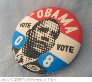 'Vote Obama 08' photo (c) 2008, Mykl Roventine - license: http://creativecommons.org/licenses/by/2.0/