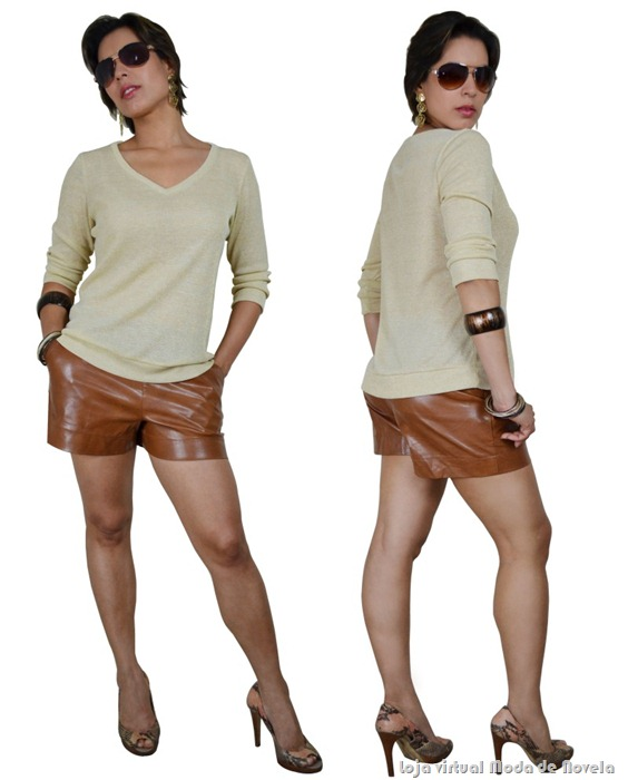 suéter de malha lurex moda de novela estilo brigitte - 02