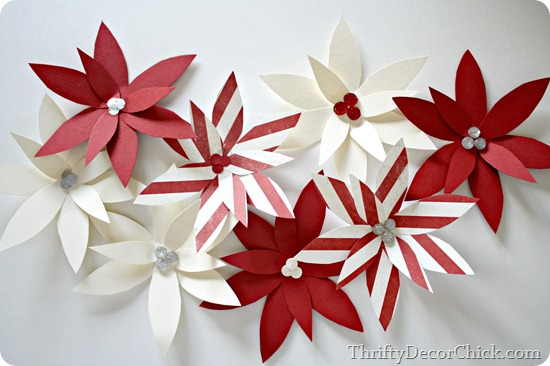 paper poinsettia craft