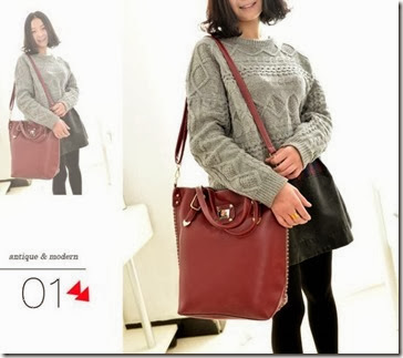U4122 RED (203.000) - PU Leather, 41 x 33 x 12