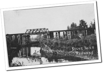 Then: Railroad Bridge over the Sammamish River, Image Courtesy of the Northwest Railway Museum