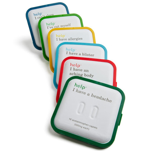 These are not technically first-aid kits, but these little packs from Help Remedies Inc., are great to keep in your bag.  $4.00 ea. from helpineedhelp.com