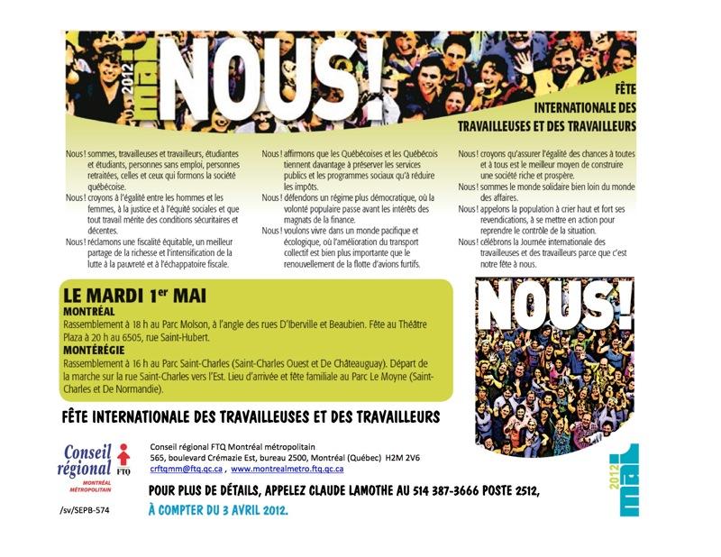 Premier mai 2012  tract  copie
