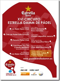 10ª Prueba Circuito Estrella Damm en Open Club Indoor Padel Training 17-25 noviembre.