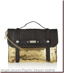 Angel Jacson Papilio Sequin Satchel