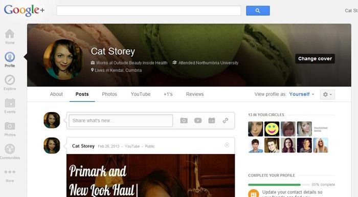 Google Plus Outside EBauty Inside HEalth