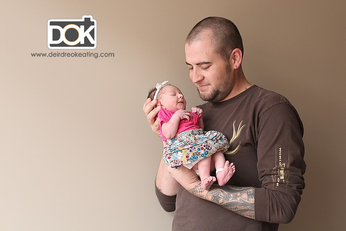 baby and dad by DOK photography