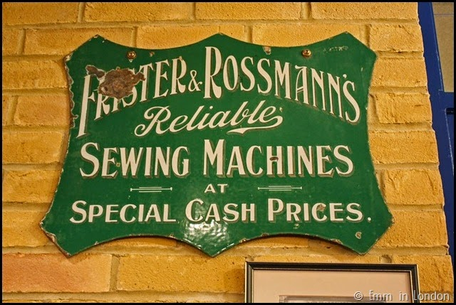 London Sewing Machine Museum sign