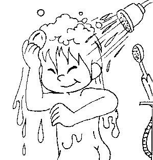 Desenho higiene e saude para colorir for Objetos para banarse