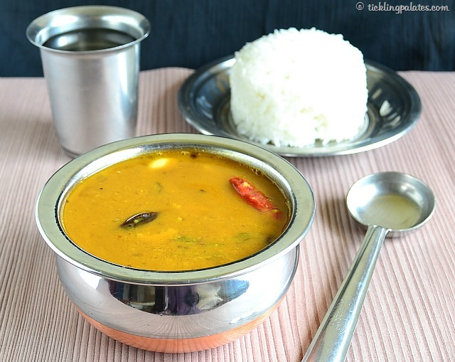 Poondu Sambar for south indian lunch