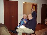 Sr. Suzanne Zeurcher, OSB and Fr. Bill Creed SJ converse