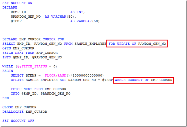 Manjuke 39 s blog how to use update cursors in sql server for Table variable in sql server