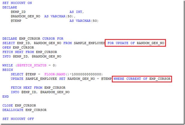 Manjuke 39 s blog how to use update cursors in sql server - Alter table sql server example ...