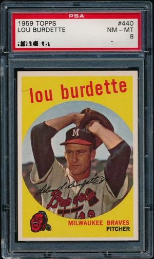 1959 Topps 440 Lou Burdette