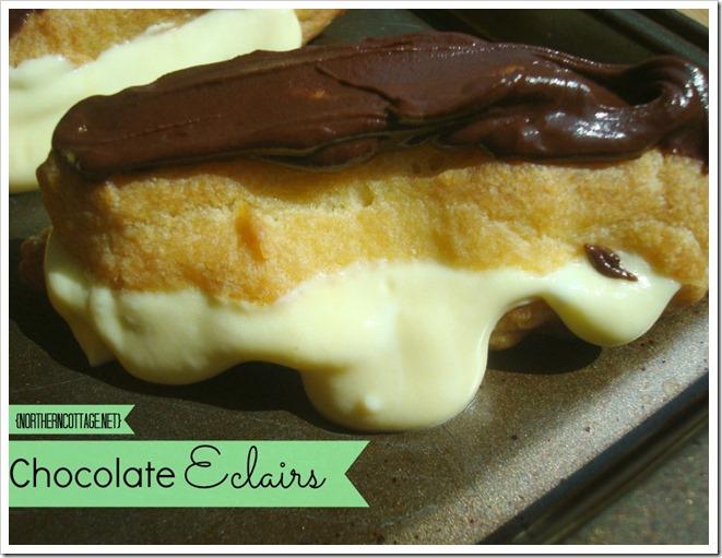 {NorthernCOTTAGE} Divine Chocolate Eclairs