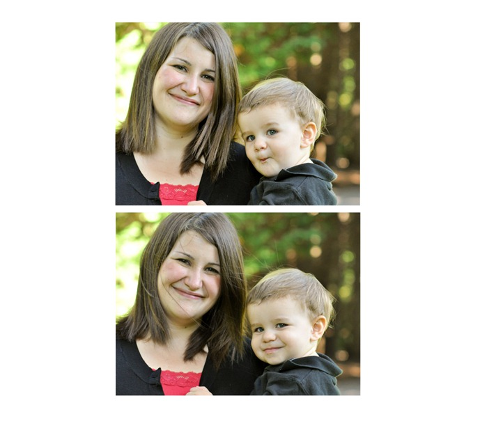 mother and son collage