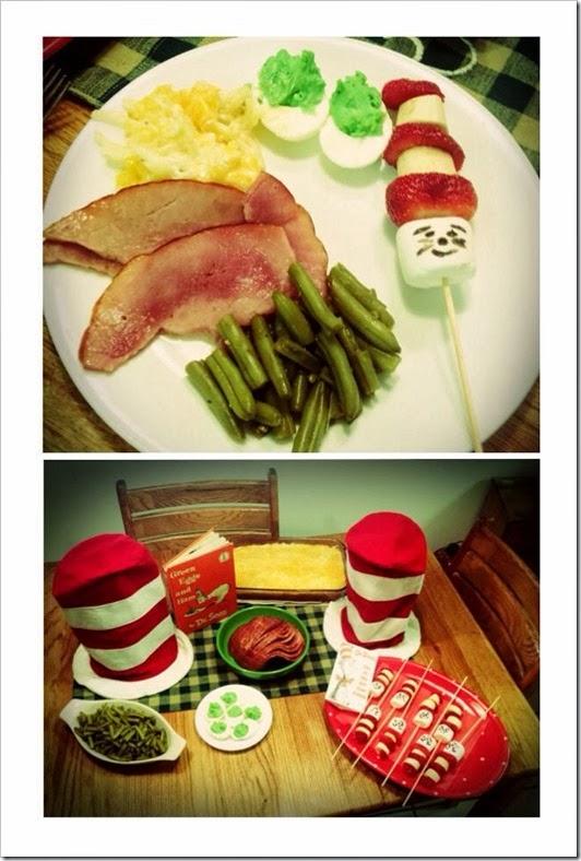 Green Eggs and Ham Dinner