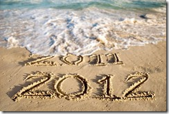 2012 new year wishes on sea