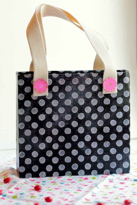 Cereal Box Purse - Valentine's Day Child Tote via homework (2)