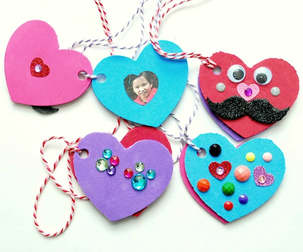 Valentines Day Kid Craft - Foam Heart Locket