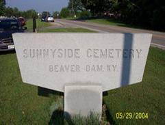 Sunnyside Cemetery - Entrance