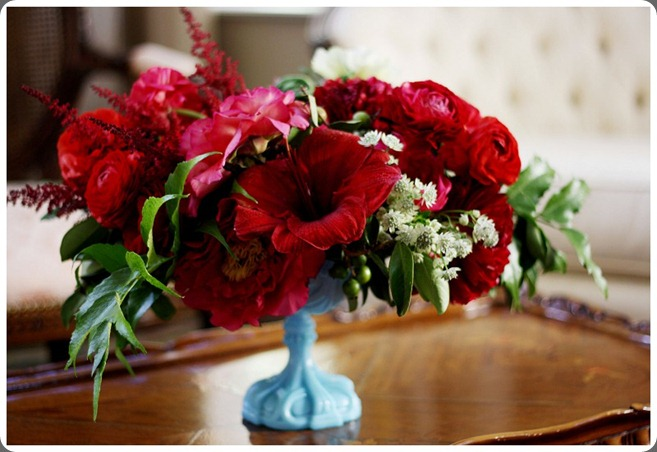 1OakandtheOwl_ Red Flowers_Blue Vase