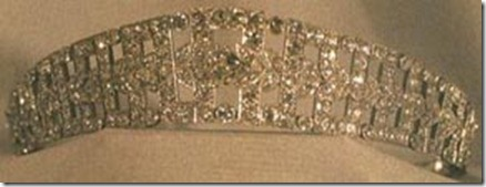 Queen Elisabeth's Diamond Bandeau Tiara - Up-close