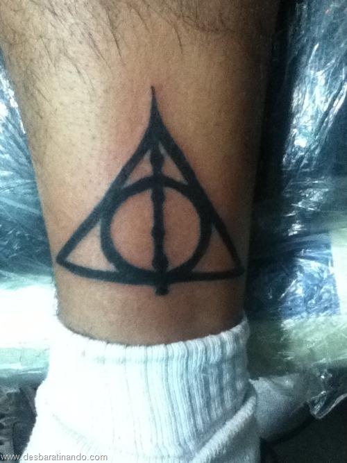 tatuagens harry potter tattoo reliqueas da morte bruxos fan desbaratinando (47)