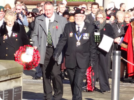 Remembrance service wreath laying