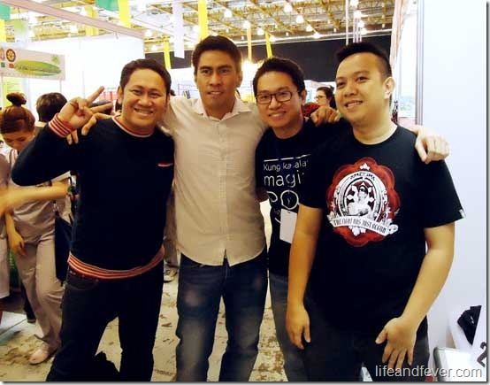 Ramon Bautista, Stanley Chi, Moymoy, Betong at the Noel Bazaar