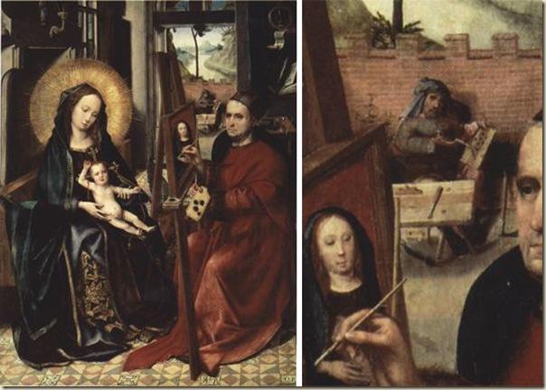 Colin de Coter, St Luc peignant la Vierge