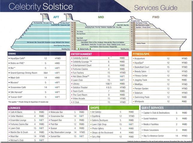 Celebrity Solstice Map