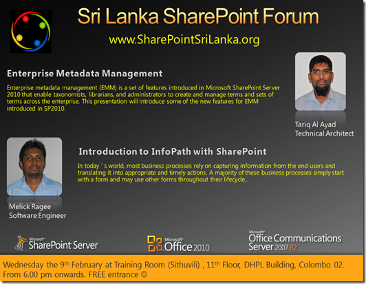 sharepoint forum - 9th february