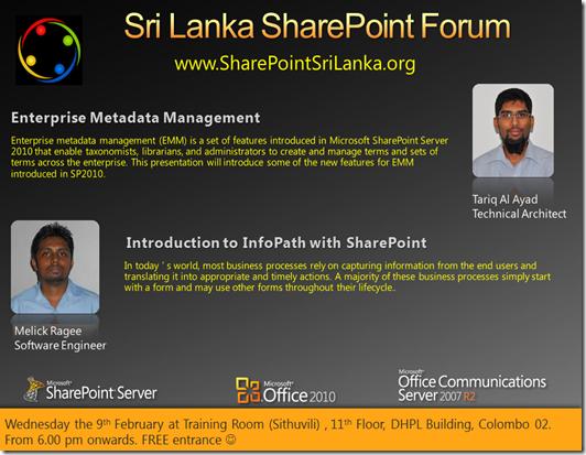 sharepoint forum - 9th february