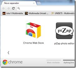 no Chrome - abrir