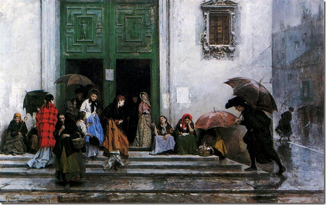 Raimundo Madrazo - Coming out of Church