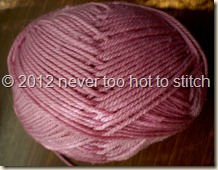 2012 Needles 8ply dusty pink