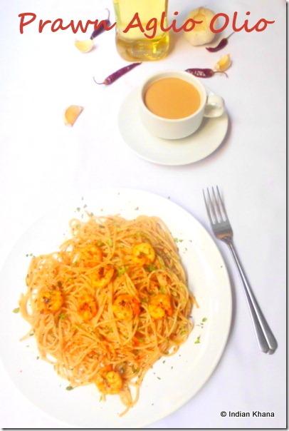 prawn aglio olio pasta recipe