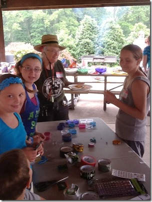 Kids Cache Creation Table at SEPAG Storms the Castle