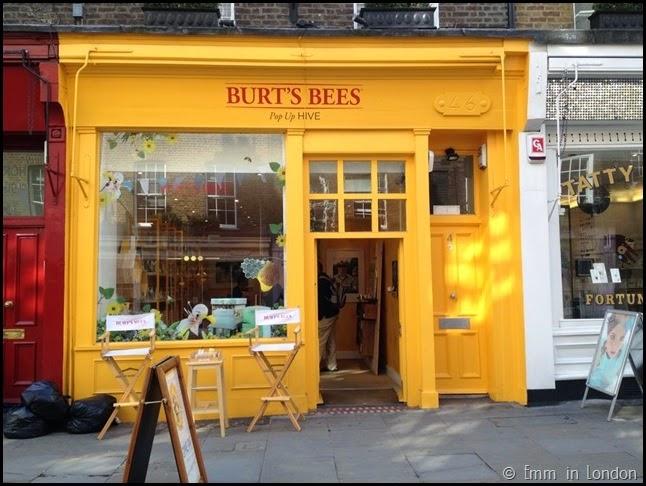 Burt Bees pop-up hive in Covent Garden