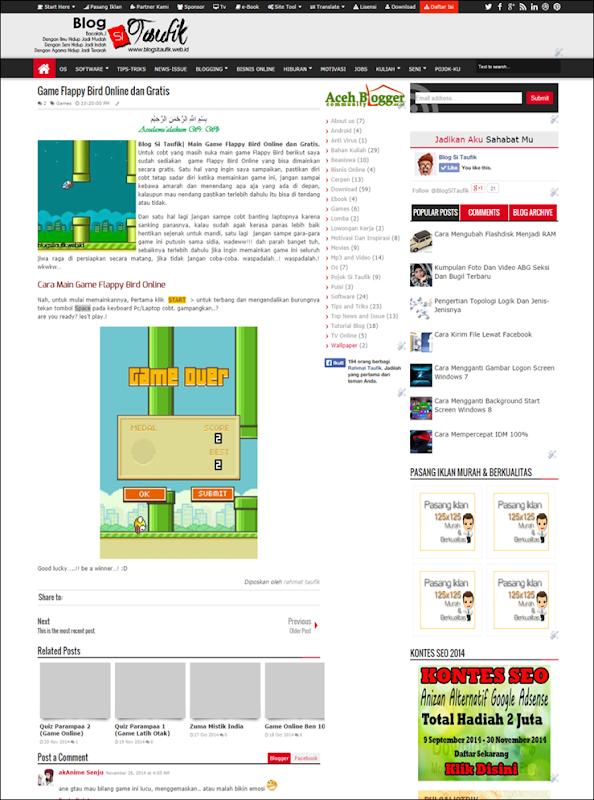 Game Flappy Bird Online dan Gratis   Blog Si Taufik -blogsitaufik.blogspot.com