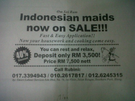iklan pembantu rumah tangga malaysia