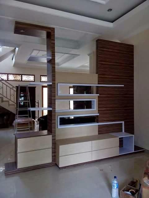 furniture minimalis modern penyekat ruangan